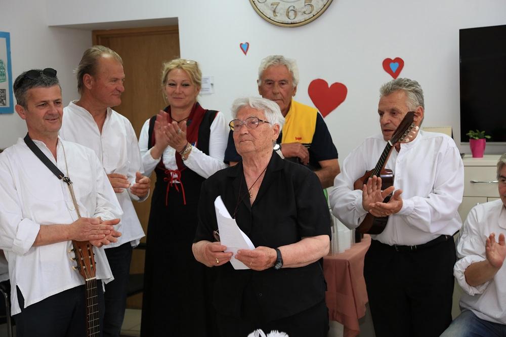 Oliva Vukorepa obratila se u ime svih korisnika Doma (Foto: Rudinapress/H. Pavić)