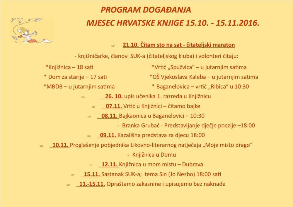Bogat program događanja Narodne knjižnice i čitaonice Tisno u sklopu mjeseca hrvatske knjige