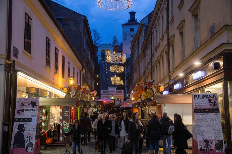 Tomićeva ulica za lanjskog adventa (Foto: Advent u Zagrebu)